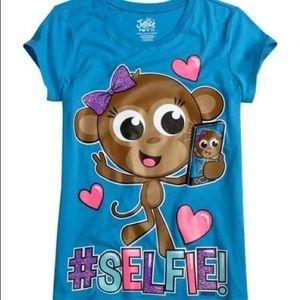 NWOT Justice Selfie Shirt